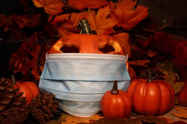 Pumpkins with masks